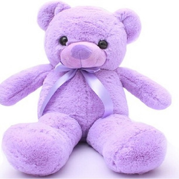 Eco-friendly Soft plush custom design Violet purple stuffed teddy bear plush OEM Brand soft toy