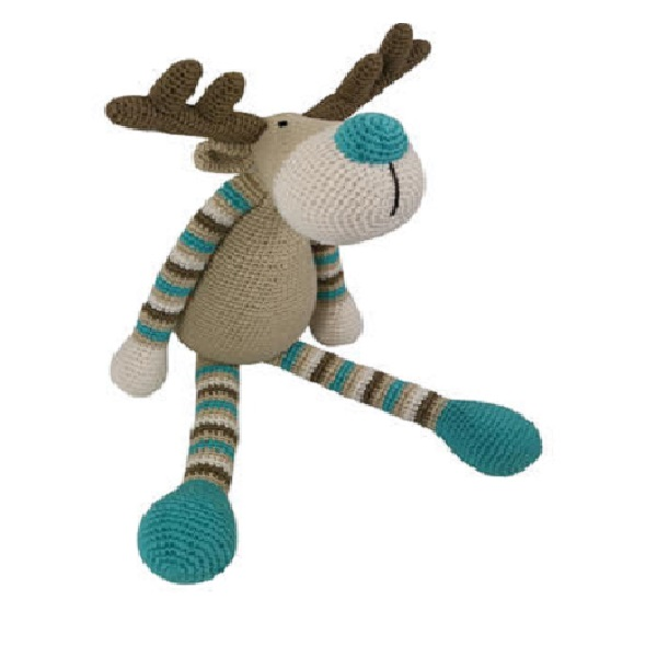 Handmade unique design Crochet Amigurumi knitted toy deer