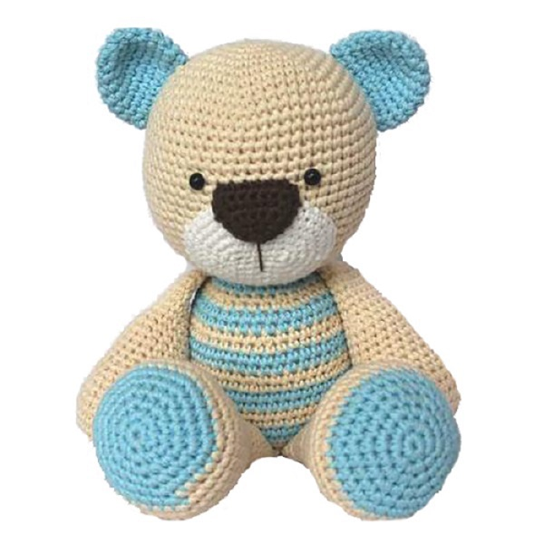 Factory personalized tummy crochet teddy Amigurumi bear knitting toy