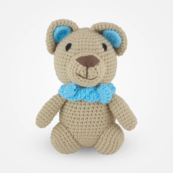 China handmade personalized tummy crochet teddy Amigurumi bear knitting toy