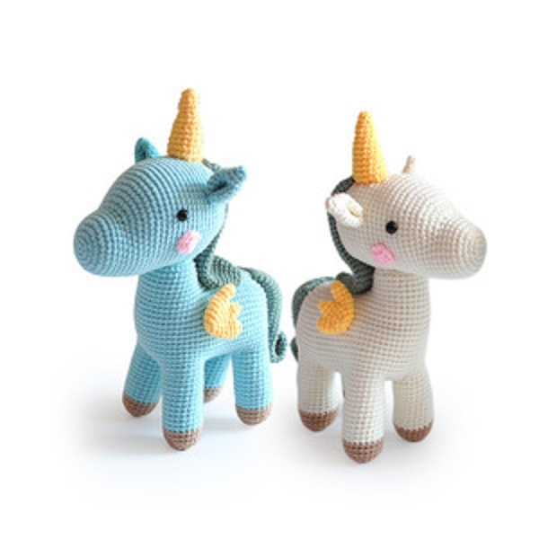 Customized Crochet Knitting Unicorn Toy Amigurumi Handmade soft toys