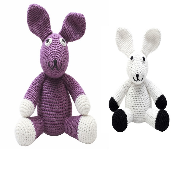 Customized Crochet plush rabbit knitted teddy bear Amigurumi Handmade crochet soft bunny toys