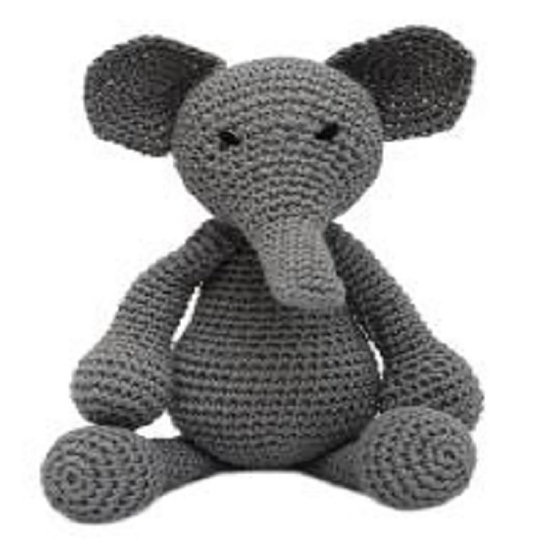 Customized New design Handmade Crochet elephant Stuffed Animal knitting Toys