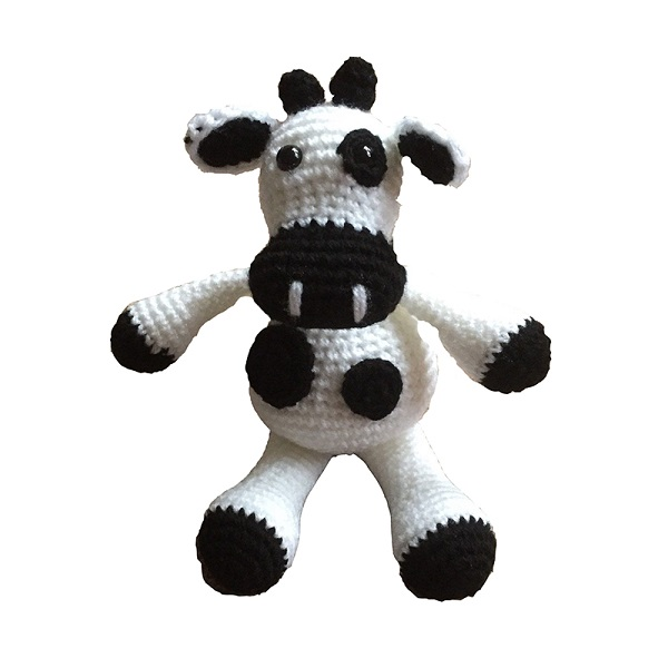 China handmade New design cotton Crochet Cow Stuffed Animal Plush knitting Toys